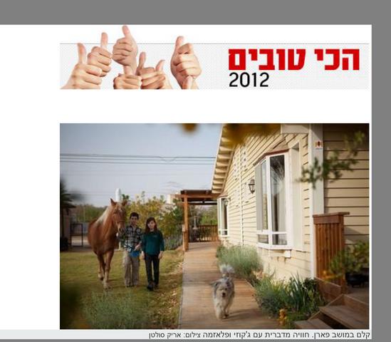 הכי טובים 2012 - בצימרים